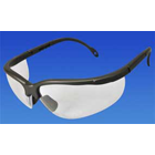 Sphere-X Wrap Eyewear - Black Frame / Clear Lens. Temples (arms) adjust to 4