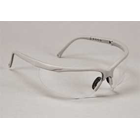 Sphere-X Wrap Eyewear - Platinum Frame / Clear Lens. Temples (arms) adjust to 4