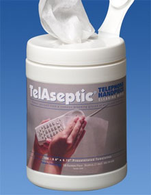 "TelAseptic Telephone Cleaning Wipes 6"" x 6.75"" 16"