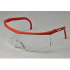 Ver-Ray Eyewear Safety Glasses - Red Frames/Clear Lens. Totally fog-free