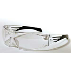 Wrap Cons Eyewear, Clear Frame with Gun Metal Tips & Clear Lens, Dual-injected