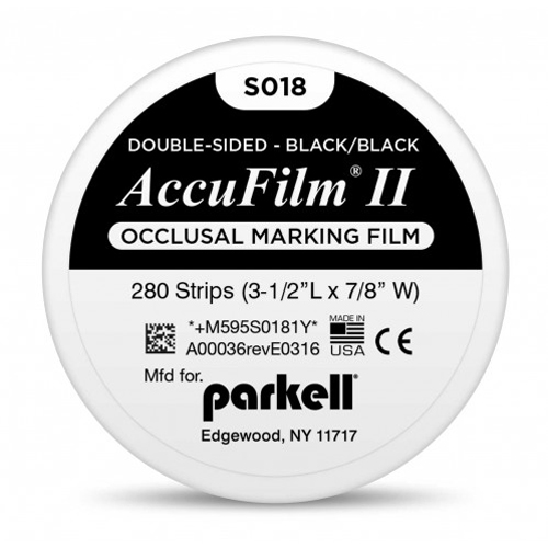 "Accu Film ll Accu Film II - Black/Black. Double-sided .0008"" (21 microns)"
