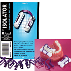 Isolator Cotton Roll Holder Disposable, Box of 50 Holders. Adaptable to cotton
