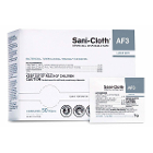 "Sani-Cloth AF3 5"" x 8"" Individually Wrapped Wipes, 50/Pk. Pre-moistened"