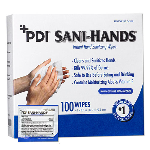 Sani-Hands Instant Hand Sanitizing Wipes, Individ