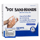 Sani-Hands Instant Hand Sanitizing Wipes, Individual Packets, 100 Wipes. 70%