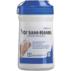 "Sani-Hands Instant Hand Sanitizing Wipes, Canister with 135 Wipes, 6"" x 7.5"""