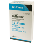GelFoam Sponges, Sterile, 12 sq cm (2 x 6 cm) x 7 mm, 12/Box. Singe-use sterile absorbable gelatin