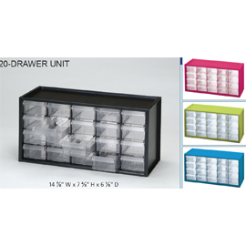 Benchtop Countertop Storage Cabinet With 20 Drawers