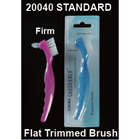 CareBrush Assorted Color Angled Standard Denture Brushes With Ergonomic Handle
