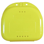 "Chroma Retainer Box - Bright Yellow, 3-1/8""W x 3""L x 1""H, Package of 12 Boxes"