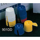 Dapdish Disposable Dappen Dishes, Assorted Colors: White, Blue, Yellow and Red