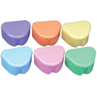 Lite Flavors Deep Dish Retainer Box - Assorted Colors, Plastic with Hinged Lid