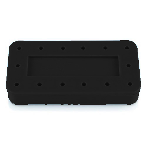 Plasdent Rectangular Bur Block - Black, Magnetic,