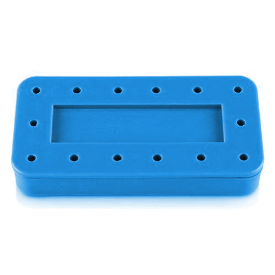 Plasdent Rectangular Bur Block - Spectrum Blue, 1