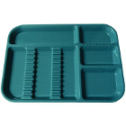 "Plasdent Set-up Tray Divided Size B (Ritter) - Teal, Plastic, 13-1/2"" X 9-5/8"""