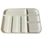 "Plasdent Set-up Tray Divided Size B (Ritter) - White, Plastic, 13-1/2"" X 9-5/8"""