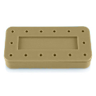 Plasdent Rectangular Bur Block - Beige, Magnetic, 14 Burs Capacity, Dimension