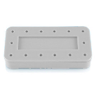 Plasdent Rectangular Bur Block - White, Magnetic, 14 Burs Capacity, Dimension