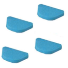 "Plasdent Foam Inserts for Denture Boxes, Blue, 3 3/4"" x 2 5/8"" x 1/2"", Package"
