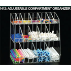 "Plasdent Clear Acrylic Adjustable Compartment Organizer, 12""W x 11 3/4""H x 7"