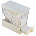 Plasdent White Pull Style Cotton Roll Dispenser with pull out drawer, Single