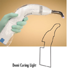 Plasdent Demi Curing Light Sheaths 400/Bx. Ventilation holes on sides and back of sheaths allow