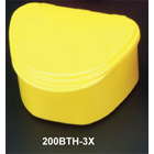 Plasdent Denture Box - Bright Yellow Chroma Colored 12/Bx. Plastic with Hinged