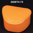 Plasdent Denture Box - Orange Yellow Chroma Colored 12/Bx. Plastic with Hinged
