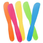 Plasdent Assorted Neon Colored Disposable Mixing Spatulas, bag of 12