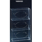 Plasdent Clear Acrylic Side Loading Triple Horizontal Glove Box