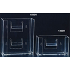 "Plasdent Clear Acrylic Double Horizontal Glove Box Holder/Dispenser, 10""W x 11"