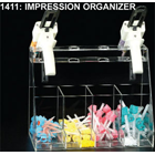 Plasdent Clear Acrylic Impression Organizer, Holds 4 impression syringes with 4