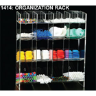 Plasdent Clear Acrylic Organization Rack, With 16 Upper X-Small Compartments, 8 Middle Medium