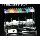 Plasdent Clear Acrylic Organization Station, With 7 Upper Compartments, 4