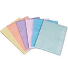 "Plasdent Peach Patient Bibs Polyback 500/Cs. Plain rectangle (13"" x 18"") 2 Ply"