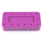Plasdent Rectangular Bur Block - Spectrum Pink, 14 Burs Capacity. Magnetic
