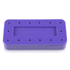 Plasdent Rectangular Bur Block - Spectrum Purple, 14 Burs Capacity. Magnetic