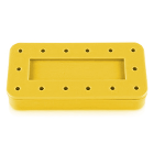 Plasdent Rectangular Bur Block - Spectrum Yellow, 14 Burs Capacity. Magnetic