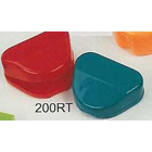 "Plasdent Standard Retainer Box - Assorted Colors, Plastic with Hinged Lid, 3""W"