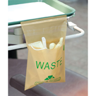 "Plasdent Stick-on Beige Utility Waste Bags, 9"" x 10"" 200/Bx. For non-hazardous"