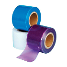 "Plasdent 4"" x 6"" Clear Sticky Wrap Barrier Film Sheets. 1200 sheets per roll"