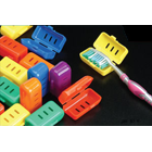 Plasdent One Size Fits All Toothbrush Covers, features a back hinge