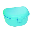 Primo Retainer Boxes - Neon Blue, 12-PK. Plastic with Hinged Lid
