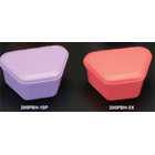 "ProBath Denture Boxes, Color: Pink Salmon, Heavy Gauge, Soft Plastic, 2"" Deep"
