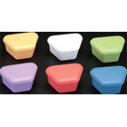 "ProBath Denture Boxes, Assorted Colors, Heavy Gauge, Soft Plastic, 2"" Deep, Box"