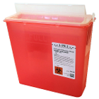 Plasti-Products 5 Quart Red Sharps Disposal Container, Case of 2 x 10/Box