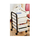 Alvin Dental Storage Caddy with 5 white plastic drawers