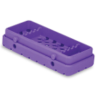 Cool Cassette 2 PURE PURPLE 5 Instrument Tray, 1/Pk. Holds instruments up