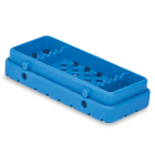 Cool Cassette 2 TRUE BLUE 5 Instrument Tray, 1/Pk. Holds instruments up